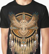 Camiseta gráfica Buho de abalorios nativo americano Mandala