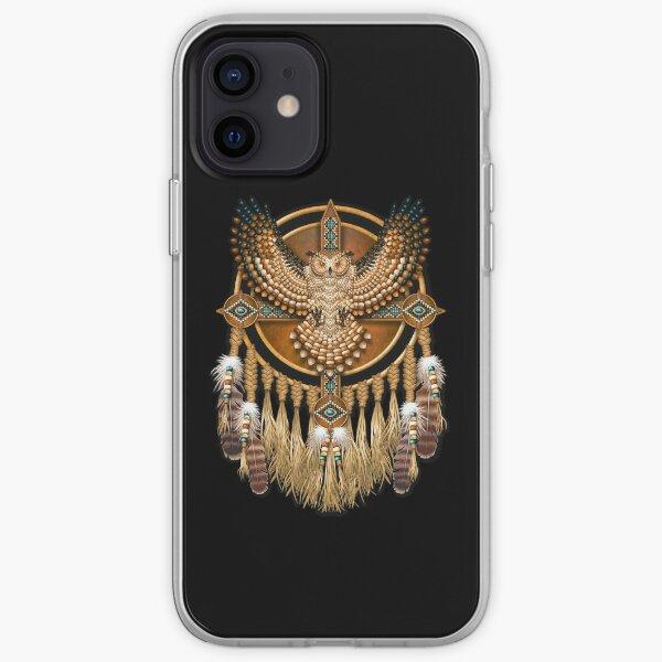 Native American Beadwork Owl Mandala iPhone Soft Case