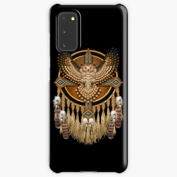 Native American Beadwork Owl Mandala Samsung Galaxy Snap Case