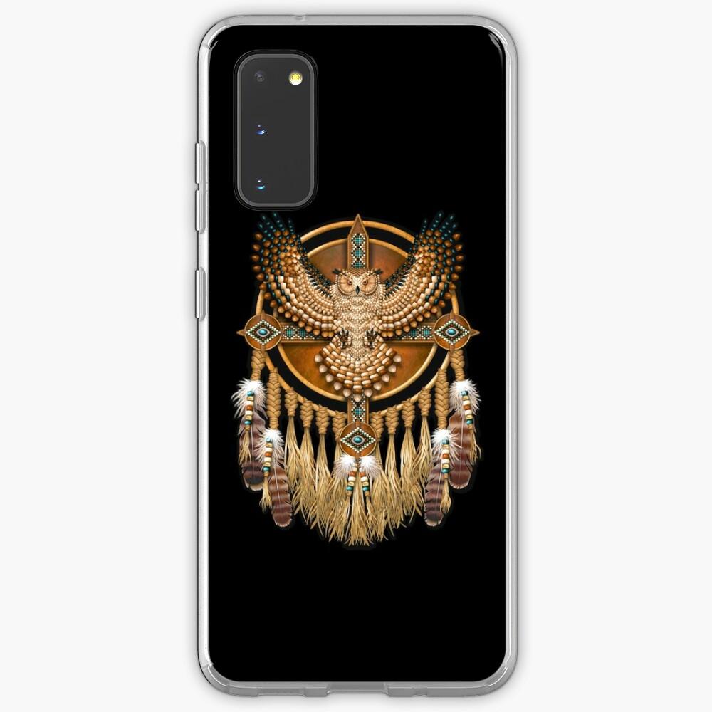 Native American Beadwork Owl Mandala Case & Skin for Samsung Galaxy