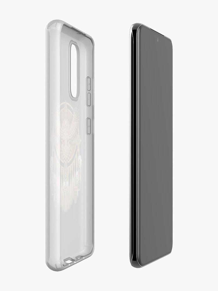 Alternate view of Native American Beadwork Owl Mandala Case & Skin for Samsung Galaxy