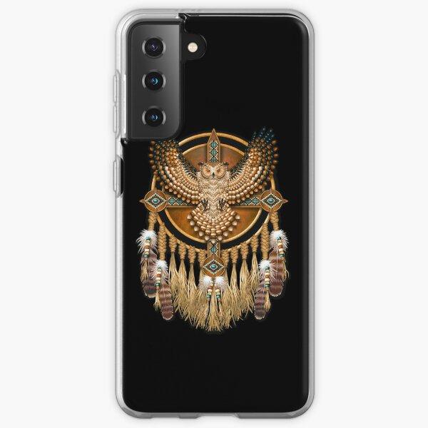 Native American Beadwork Owl Mandala Samsung Galaxy Soft Case