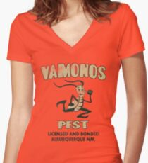 Vamanos Pest (Breaking Bad) Women's Fitted V-Neck T-Shirt