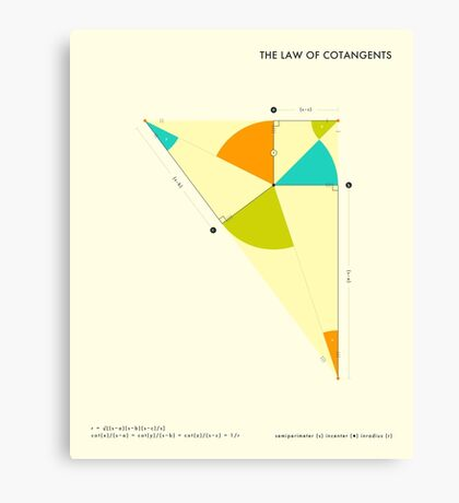 THE LAW OF COTANGENTS Canvas Print
