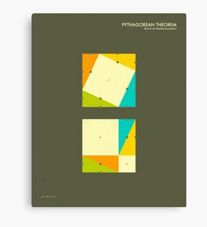 Pythagorean Theorem: Proof by Rearrangement Canvas Print