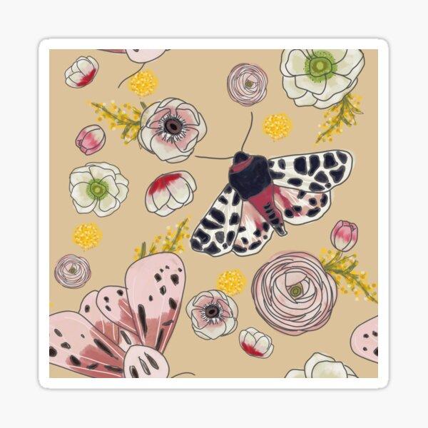 Moths & Spring Blooms Sticker