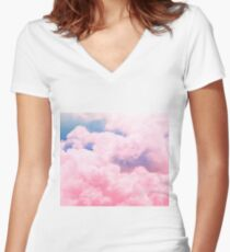 Candy Sky Women's Fitted V-Neck T-Shirt