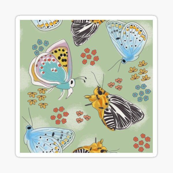 A Garden of Butterflies Sticker