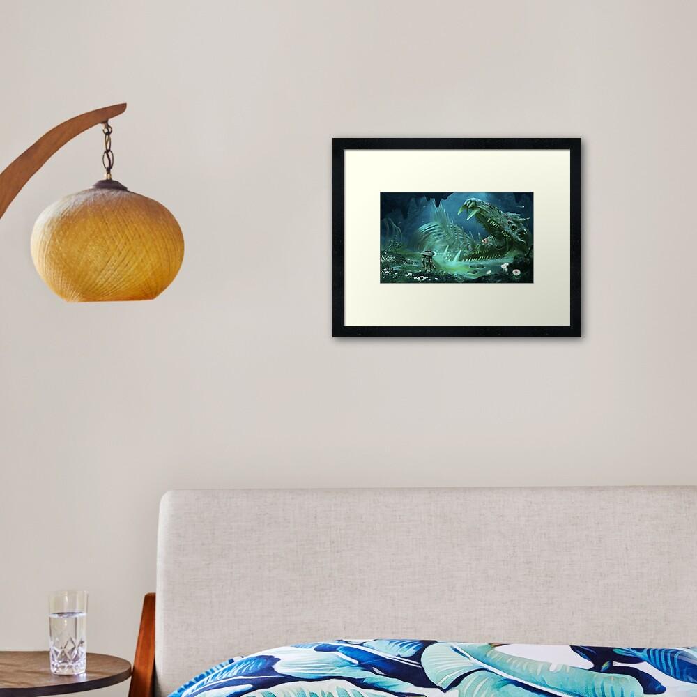 Exploring the Lost River Framed Art Print