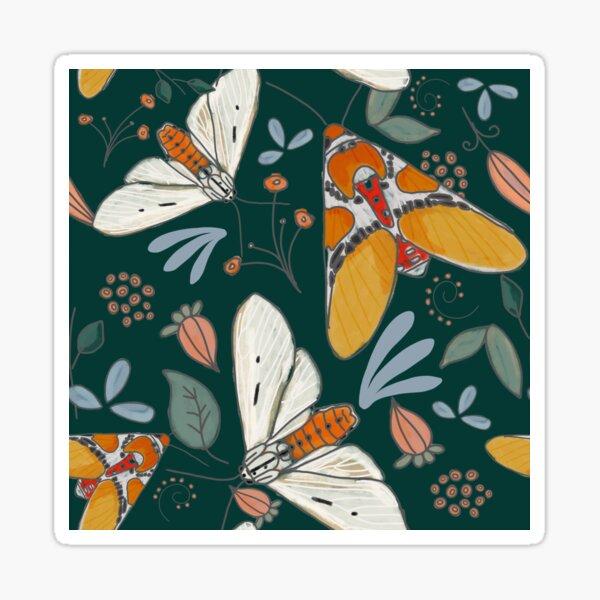 Orange Golden Moths Sticker