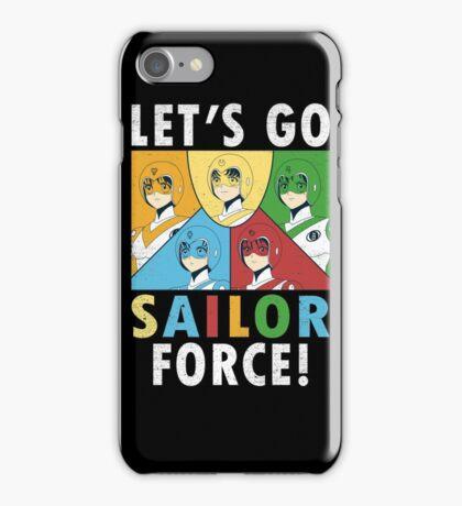 Let's Go Sailor Force iPhone Case/Skin