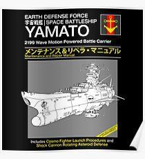 Battleship Yamoto Service and Repair Manual Poster