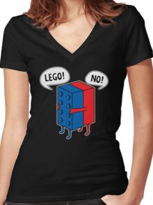 Lego No Women's Fitted V-Neck T-Shirt