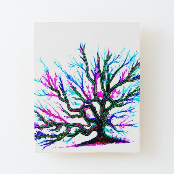 Underwater Coral Wood Mounted Print