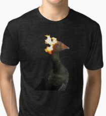 Flaming Duck meme Tri-blend T-Shirt