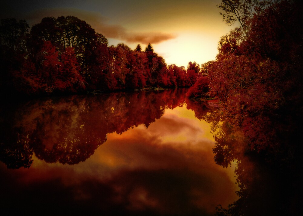 Red Dawn by Charles & Patricia   Harkins ~ Picture Oregon