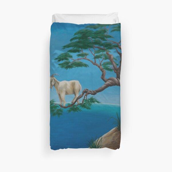 Goats in trees Duvet Cover