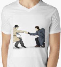 Angels Fear to Tread Mens V-Neck T-Shirt