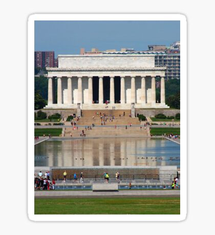 Lincoln Memorial and Reflecting Pool Sticker