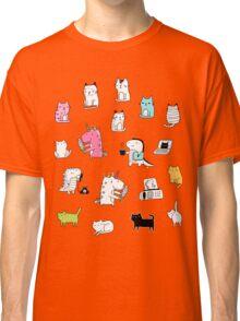 Cats. Dinosaurs. Unicorn. Sticker set. Classic T-Shirt