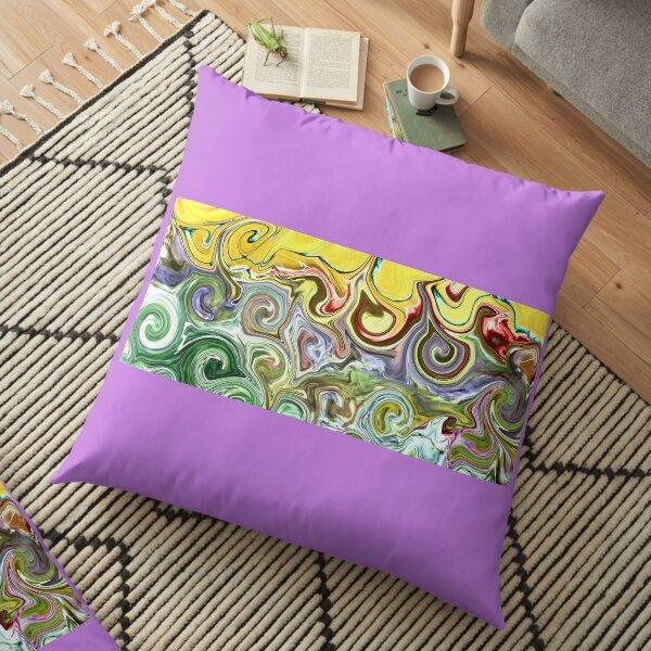 Silky swirls Floor Pillow