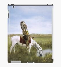 """""""An Oasis in the Badlands"""", Red Hawk, ca. 1905 iPad Case/Skin"""