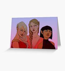 Night Court Girls Greeting Card
