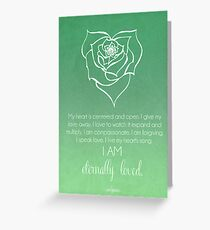 Forgiveness greeting cards redbubble heart chakra affirmation greeting card 428 forgiveness m4hsunfo