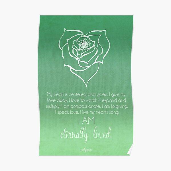 Heart Chakra Affirmation Poster