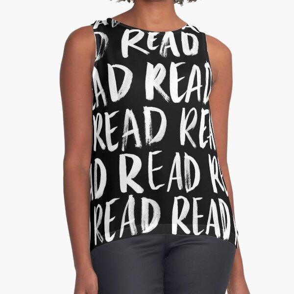 Read, Read, Read (Black) Sleeveless Top