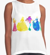 Princesses Inspired Silhouette Contrast Tank
