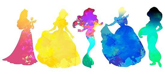 Princesses Inspired Silhouette by InspiredShadows