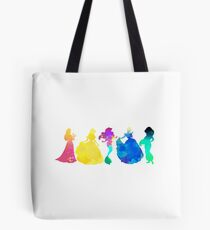 Princesses Inspired Silhouette Tote Bag