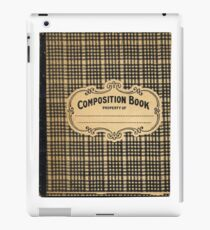 Vintage Checked Composition Notebook Cover iPad Case/Skin