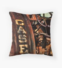 Case Antiquated Tractor Throw Pillow