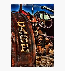 Case Antiquated Tractor Photographic Print