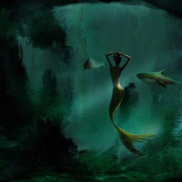 The Lone Mermaid by iraybi
