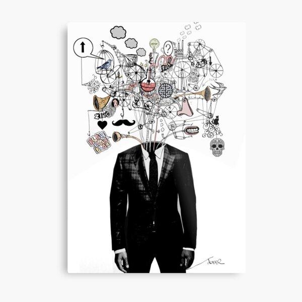 deconstructed mind Metal Print
