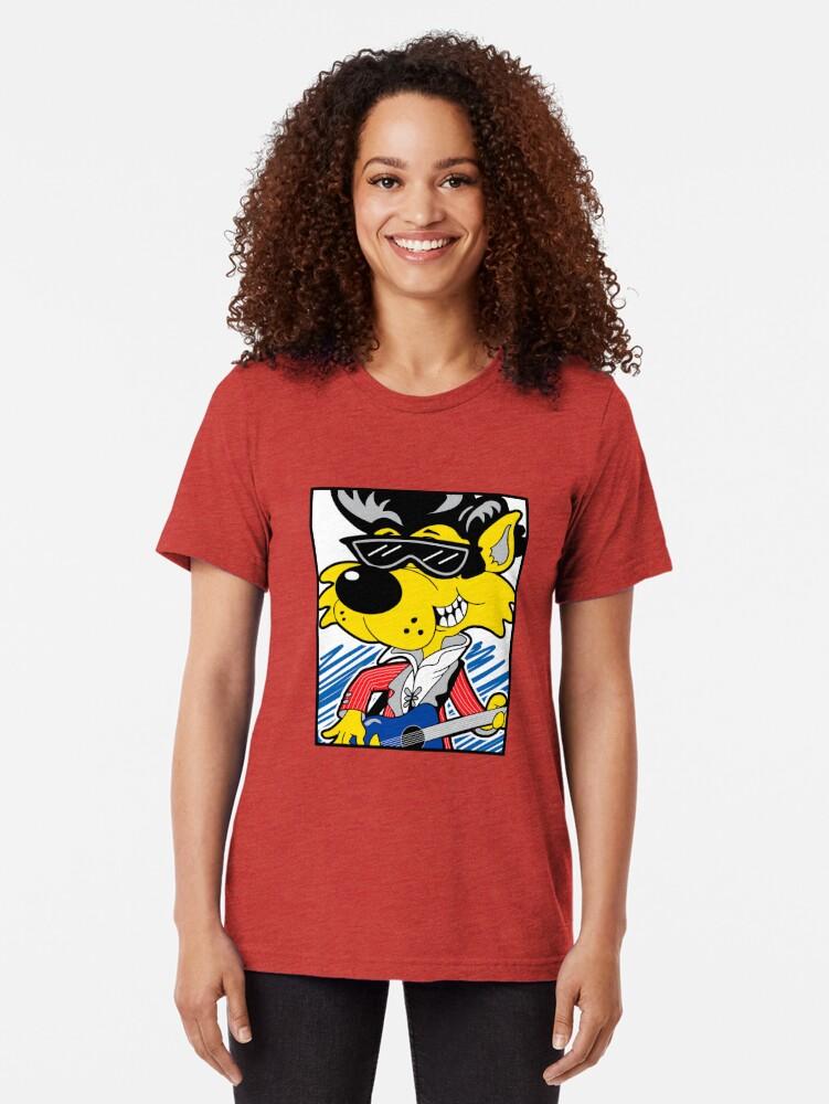 Alternate view of KOOLY KAT - Cropped White Tri-blend T-Shirt