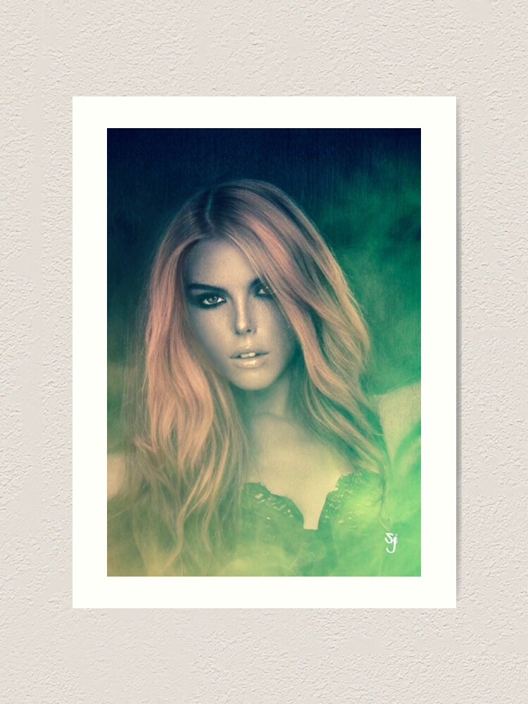 Alternate view of Generic Woman In Green Mist Art Print