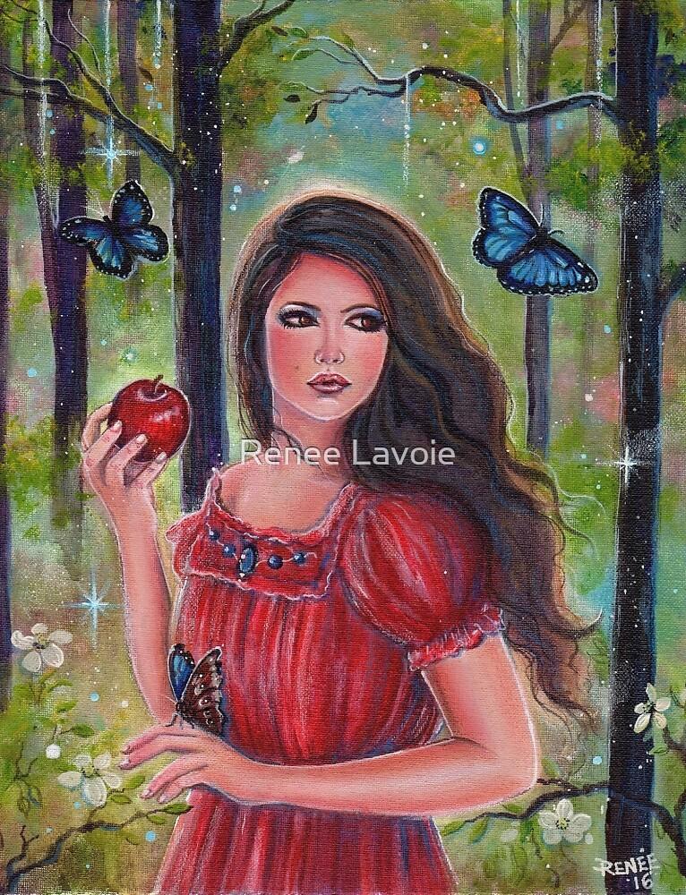 Forbidden fruit fairytale art by Renee Lavoie by Renee Lavoie