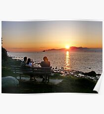 Watching the Sun go Down on English Bay Poster