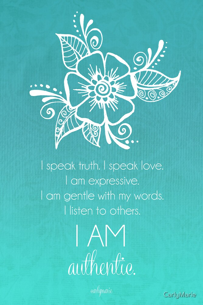 Quot Throat Chakra Affirmation Quot By Carlymarie Redbubble