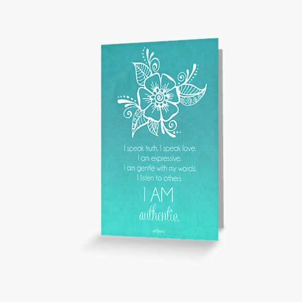 Throat Chakra Affirmation Greeting Card