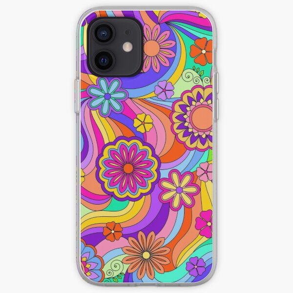 Groovy Psychedelic Flower Power iPhone Flexible Hülle