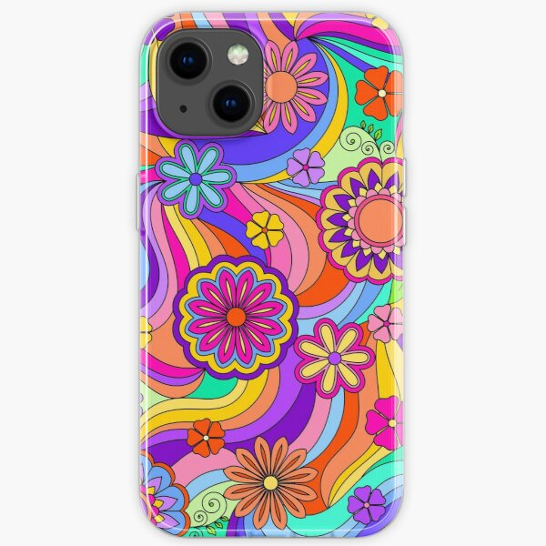 Groovy Psychedelic Flower Power iPhone Soft Case