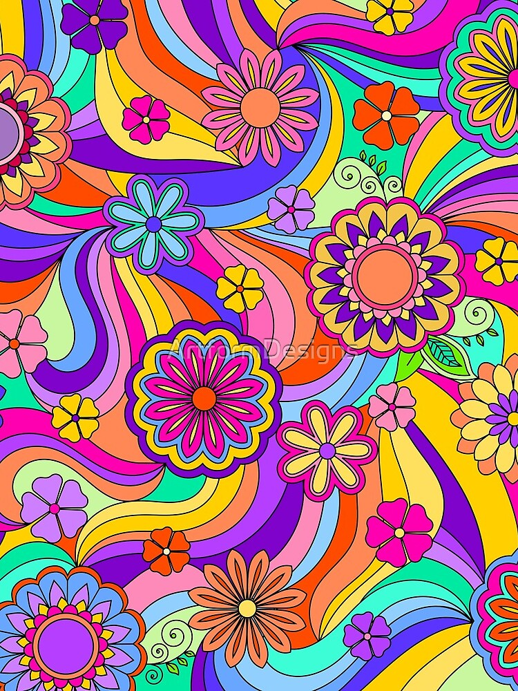 Groovy Psychedelic Flower Power by ArtformDesigns