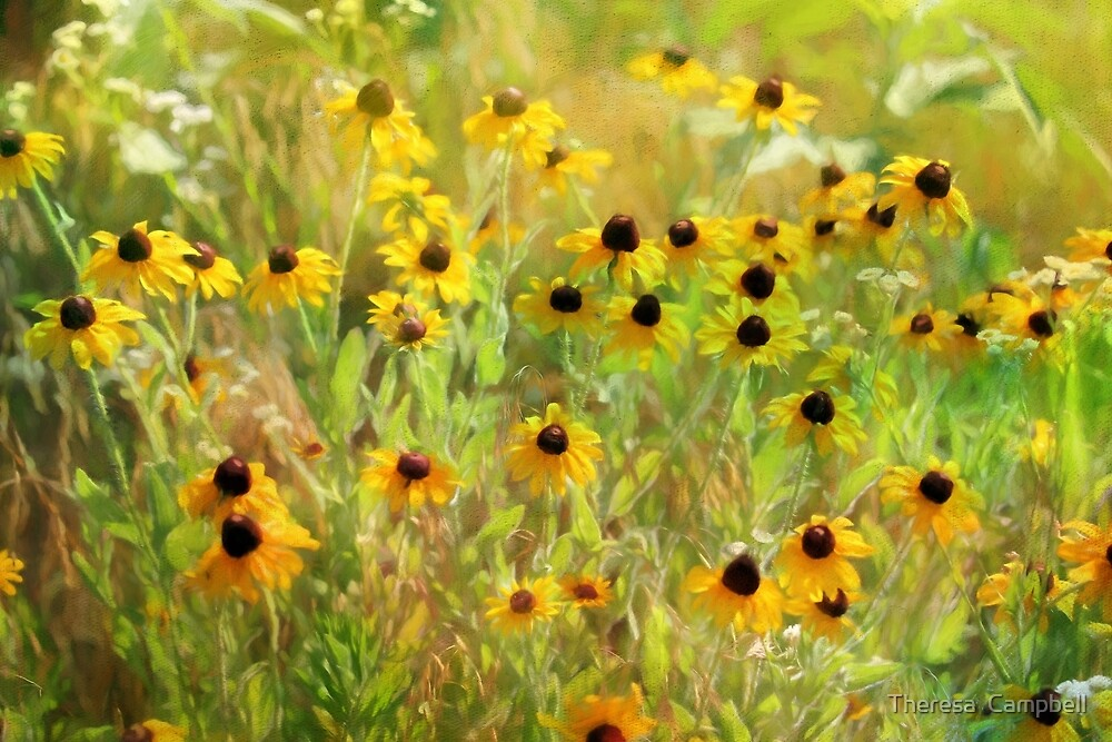 Black Eyed Susans Painting by TheresaC1953