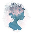 Beautiful Silhouette Floral Woman by Olga Altunina