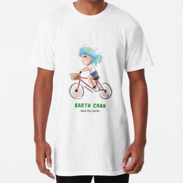 Earth Chan go green! Long T-Shirt